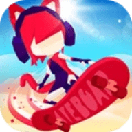 滑板色彩冲浪